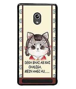 PrintVisa Designer Back Case Cover for Asus Zenfone 6 A600CG (Cartoon Illustration Caption Latest Design)
