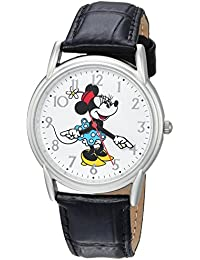 Disney Women's 'Minnie Mouse' Quartz Metal Casual Watch, Color:Black (Model: WDS000408)