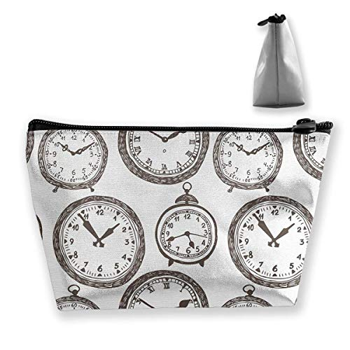 Vintage Pocket Watch Cosmetic Makeup Bag/Pouch/Clutch Travel Case Organizer Storage Bag for Women¡¯s Accessories Toiletry Beauty,Skincare Travel Accessory (Pocket Watch Plain)