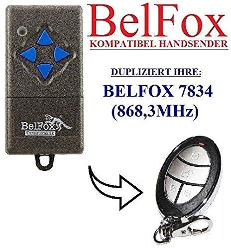Preisvergleich Produktbild BELFOX 7834 Kompatibel Handsender, Ersatz sender, 868.3Mhz fixed code, Klone