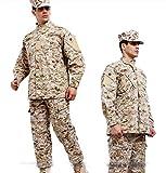Noga, Uniforme de Camuflaje, Traje de Lucha, Quemador Traje, Uniforme Militar, Traje de Caza, para Plan Juegos, Paintball, Chaqueta y Pantalones, Color - Desert Camo, tamaño Medium
