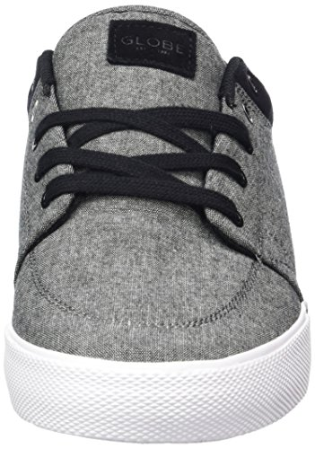 Globe Gs, Chaussures de skateboard homme Gris (Black Chambray/white)
