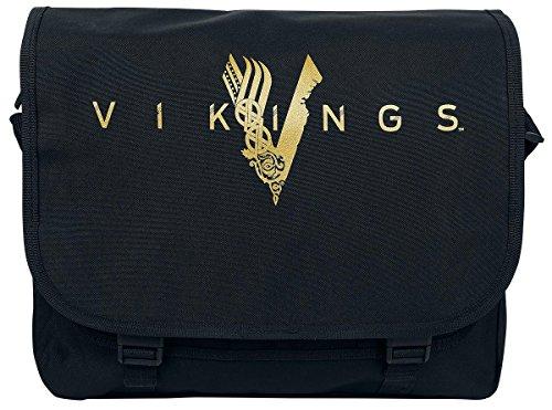 Vikings - borsa a tracolla con logo della serie - nero