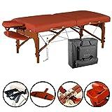 Master Santana Table de Massage Portable ThermaTop 70 cm avec coussin chauffant intégré dans lit de salon de beauté rouge montagne