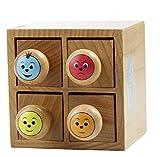 Maildor - Set timbri Smileys in scatola di legno