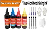 Image N Super High Photo Quality Refill Ink Bottle Kit with 4 Syringe and Needles For Refilling HP 1112 2131 2132 2135 2520 2622 2675 2675 3635 3636 3775 3776 3777 3779 PRINTER & 21 22 46 678 680 702 703 704 802 803 900 CARTRIDGE