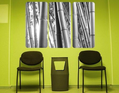 sticker-mural-adhesif-bamboo-triptych-grosse36cm-x-54cm