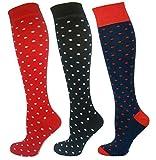 MySocks Unisex Kniehohe Lange Socken Tupfen-Entwurf