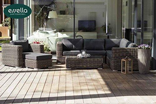 essella Hochwertige Polyrattan Lounge Alabama 7-Personen Rundgeflecht/Gartenmöbel/Outdoor