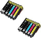 10 XL Druckerpatronen für Epson XP-530, XP-540, XP-630, XP-635, XP-640, XP-645, XP-830, XP-900 | kompatibel zu Epson 33XL T3351 T3361 T3362 T3363 T3364