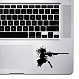 StickAny Palm Series Sniper Girl Sticker for Macbook Pro, Chromebook, and Laptops (Black)