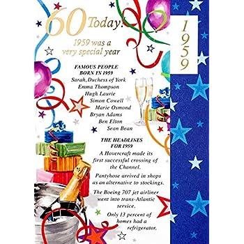 Simon Elvin 2019 60th Male Birthday Card