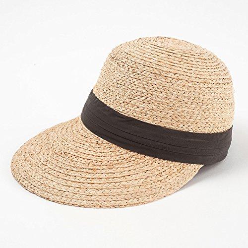 MC Hut Sommer Hut, Sonnenhut Frauen Schweißband Strohhut Große Einstellbereich Sonnenschutz Packable, 5 Farben Optional Schirmmütze (Color : Brown)