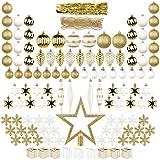 ITART 122ct Decorazioni per L'Albero di Natale Ornamenti di Baubles di Natale Ornamenti (Oro Bianco)