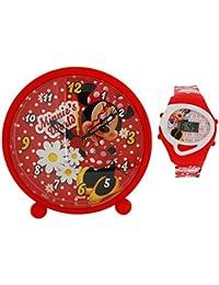 De Minnie Mouse de Disney reloj despertador mundo de noche y reloj de Digital WD10437