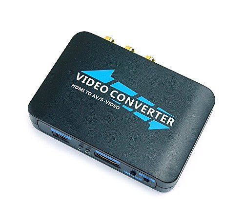 Mondpalast ® HDMI zu AV composite Zusammengesetzt RCA CVBS S-Video PAL / NTSC 1080p Konverter adapter xbox ps3