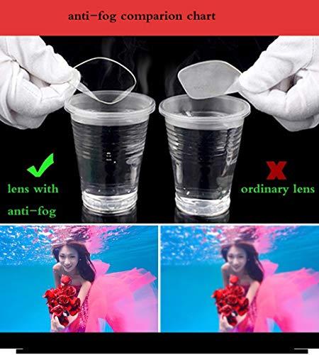 Gaodaweian Unisex-Anti-Fog-UV-Schutz schützen Wasserabweisende Schutzbrillen Schwimmbrillen (Color : Schwarz)