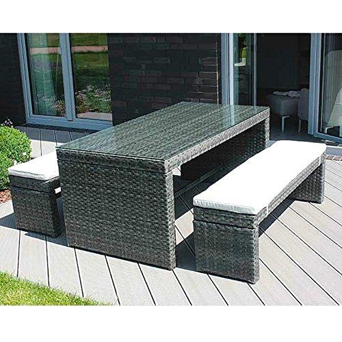 Aluminium-Dinningset Gartenmöbel-Set Aluminiumgestell Polyrattangeflecht