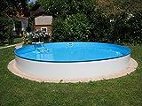 Rundpool Becken-Set 150 cm Tiefe (SW:0,8 IH:0,6) 500 x 150 cm