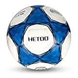 Hetoo Waterproof Football, Most Reasonable Construction Technology Football for Adult and Kids, Best Outdoor Sports Practice Soccer Ball Size 5 (size5)