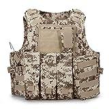 YANODA Chaleco Táctico Militar De Caza De Camuflaje Wargame Body Armor Chaleco De Caza Equipo SWAT Equipo De Selva Al Aire Libre Deporte (Color : Delta)