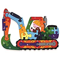 Wooden Alphabet Digger Jigsaw Puzzle Handmade in Ireland