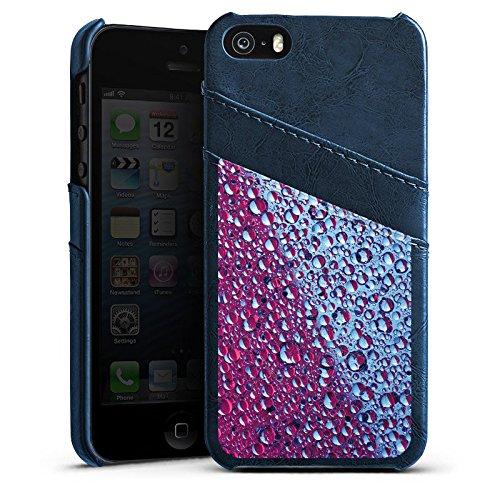 Apple iPhone 4 Housse Étui Silicone Coque Protection Fromage blanc Eau Water Étui en cuir bleu marine