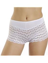 LisaModa 4er Pack HighPants Spitze Farbmix Damen Hüftpanty