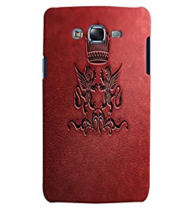 Citydreamz Red Leather Finish/Queen Crown Hard Polycarbonate Designer Back Case Cover For Samsung Galaxy Grand 2 G7102