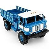 HKFV WPL B-24 1:16 4WD RC DIY Montieren Militär Truck Control Auto Spielzeug Frecher Drache DIY B-24/WPL Manuelle Montage 4WD Klettern Auto (Blau)