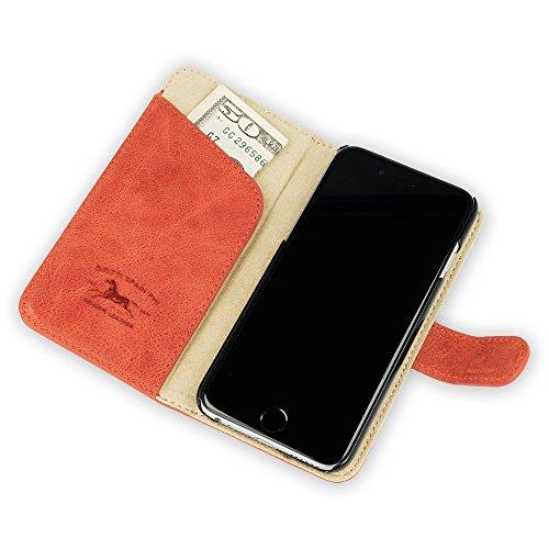 """QIOTTI >            APPLE iPHONE 6 / 6S (4,7"""")            < incl. PANZERGLAS H9 HD+ 2-in-1 Booklet mit herausnehmbare Schutzhülle, magnetisch, 360 Grad Aufstellmöglichkeit, Wallet Case Hülle Tasche handgefertigt aus hochwe ROT"""