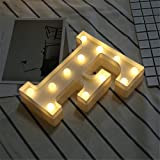 DIY LED Brief Beleuchtung Alphabet Event Dekoration Nachtlichter Stimmungslicht Schlummerleuchten Lampen Kunststoff Dekorationen für Geburtstag Party Hochzeit (F)