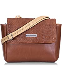 Fantosy Tan And Beige Two Side Women Slingbag (FNSB-201) (Tan And Beige)