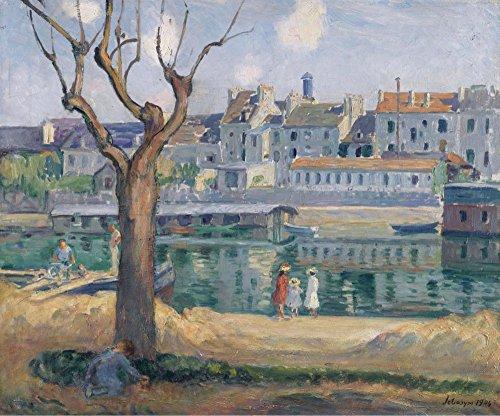 Das Museum Outlet-Lagny (begriffsklärung), View of the Quay of Pamponne, 1904-Leinwand Print Online kaufen (76,2x 101,6cm)