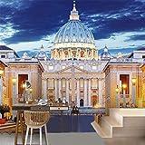Guyuell Hohe Qualität Benutzerdefinierte Wandbild Tapete Für Wand 3D Geprägte Nacht Europäische Gebäude Fotowand Für Wohnzimmer Schlafzimmer Dekor-200Cmx140Cm