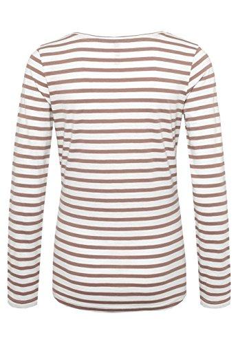 SUBLEVEL Damen Longsleeve mit Anker Print | Gestreiftes Langarmshirt im Maritimen Look White