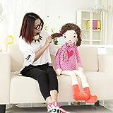 VERCART Petite Peluche Poupée Interactif Imitation Jouet Enfant Mignon pour Bébé Doudou Garcon Fille Cadeau d'anniversaire Rose 115cm