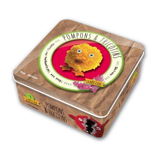 Pompons et tricotins : 1 livre + 1 tricotin et 1 kit à pompons
