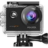 MGCOOL Pro Action Camera Deportiva 4k Wifi, 16MP 1080p@60fps Lente Ojo de Pez 170 ° Lente de Ángulo Amplio Sony Sensor Waterproof 30M Accesorios Múltiples - Negro