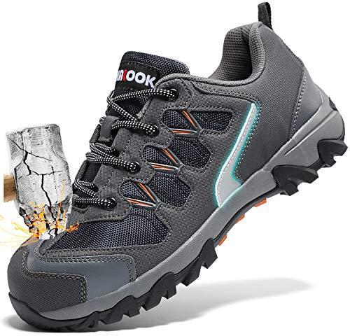 Zapatos de Seguridad para Hombre con Puntera de Acero Zapatillas...