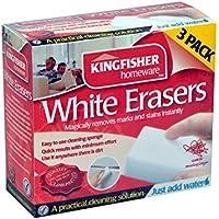 Kingfisher–2x confezione da 3Bianco Magic per pulizia Eraser & regalo