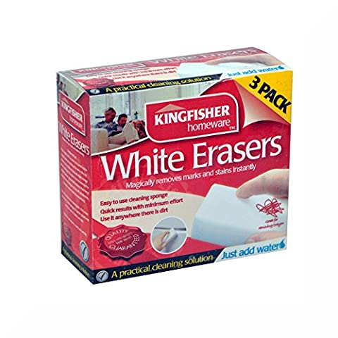 Kingfisher 2 x 3 Pack White Magic Cleaning Eraser