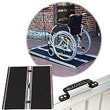 TrutzHolm® Rollstuhlrampe 122 cm 270 kg klappbar mit Friktionsbeschichtung Alu Auffahrrampe Aluminium