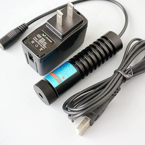 1500mw High Power Laser Module 445/450nm 1.5W Blue Diode Dot Laser 12V/Adapter & 22x90mm