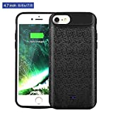 Mbuynow 5200mAh Power Bank iPhone 7 Custodia Batteria Cover Ricaricabile a lunga durata, Backup Custodia per Apple Iphone 7 (4.7') - Nero