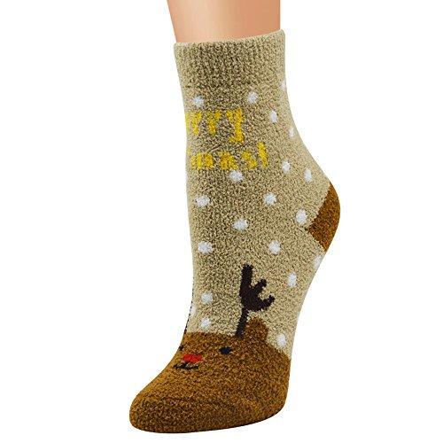 Dasongff Unisex Damen Mädchen Weihnachtssocken Weihnachtsmotiv Weihnachten Socken Festlicher Christmas Socks Warm Mode Mid Rohrsocken Bunt -