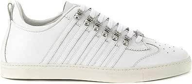 Sneakers in Pelle Martellata Bianca