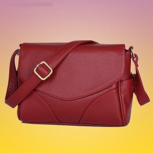 Yu Chuang Xin Borsa a tracolla a tracolla in pelle sintetica morbida da donna Borsa a tracolla per designer Borsa moda casual Tote ( Colore : Rosso ) Rosso
