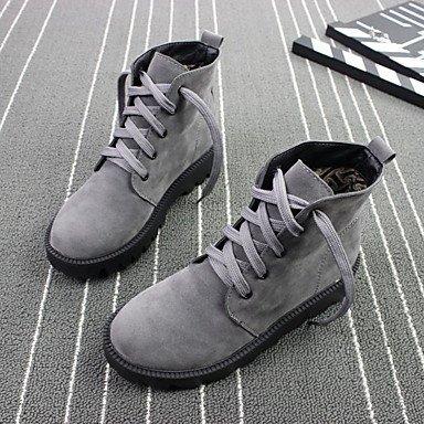 Scarpe da donna Autunno Inverno Comfort Scarpe Casual Tacco Piatto Nero Grigio Marrone Gray