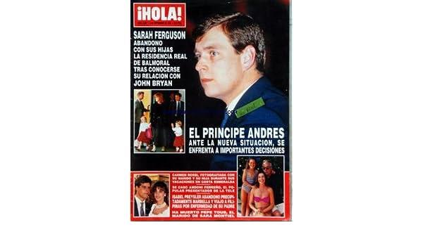 dfdeea695 Amazon.fr - HOLA  No 2508  du 03 09 1992 - SARAH FERGUSON - JOHN BRYAN - EL  PRINCIPE ANDRES - CARMEN ROSSI CON SU MARIDO Y SU HIJA - ANDONI FERRENO -  ISABEL ...